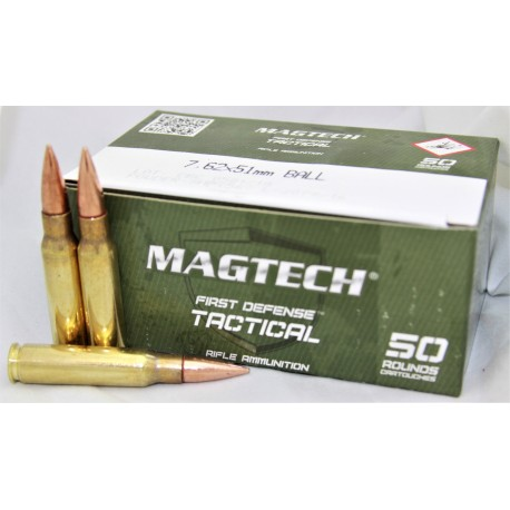 50 cartouches 308W FMJ 150gr tactical
